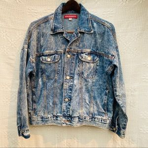Union Bay Vintage Style Acid Wash Jean Jacket Sz M